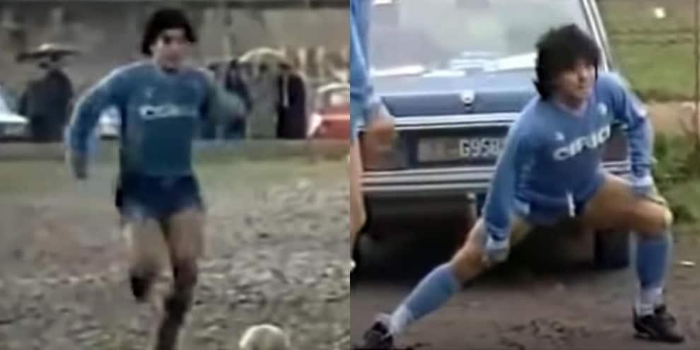 Maradona, la storica partita nel fango di Acerra