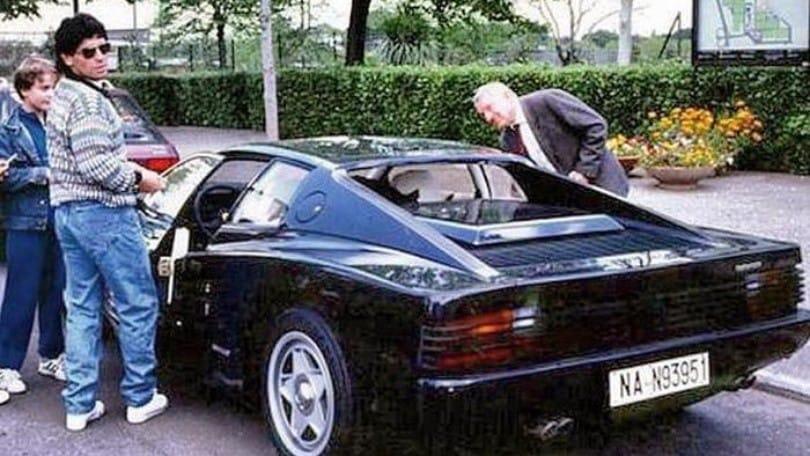 Maradona e quella strana Ferrari F40 nera