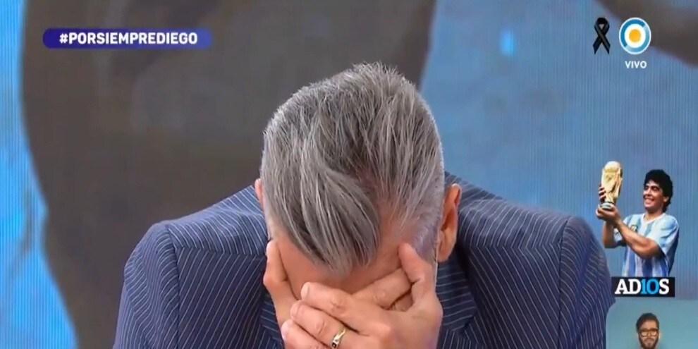Addio a Maradona, Goycochea piange disperato in tv