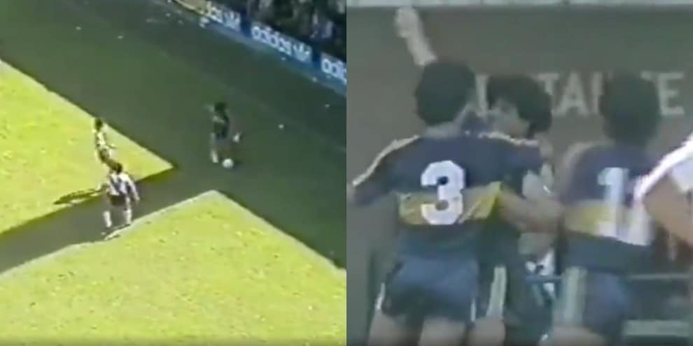 Maradona e il gol incredibile dalla rimessa laterale