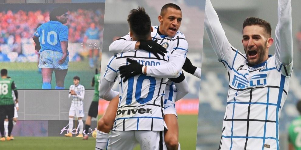 L'Inter nel segno di Maradona: un 3-0 per Diego