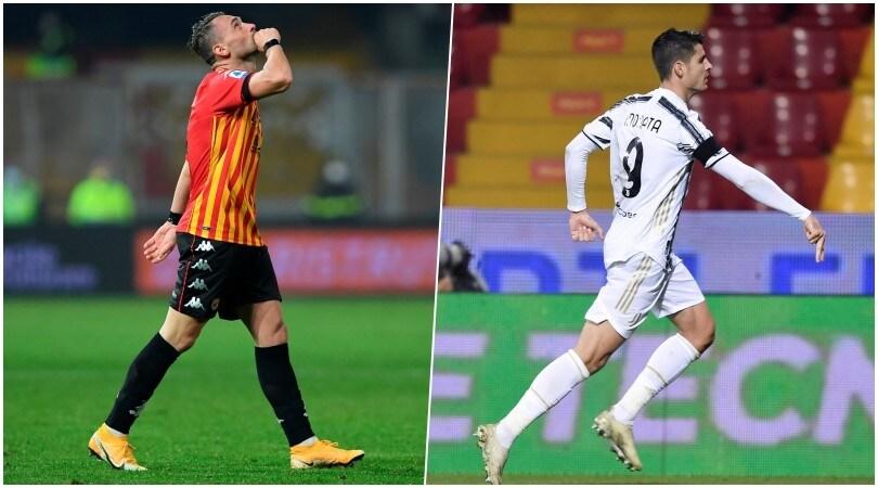 Benevento-Juve 1-1: Letizia risponde a Morata con dedica a Maradona