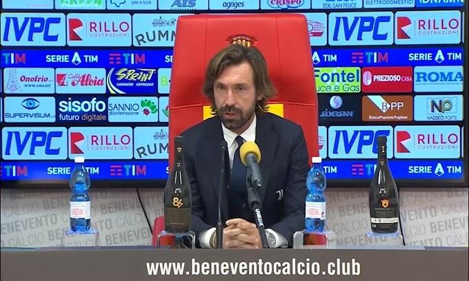 """Pirlo: """"A Benevento devi vincere anche senza CR7"""""""