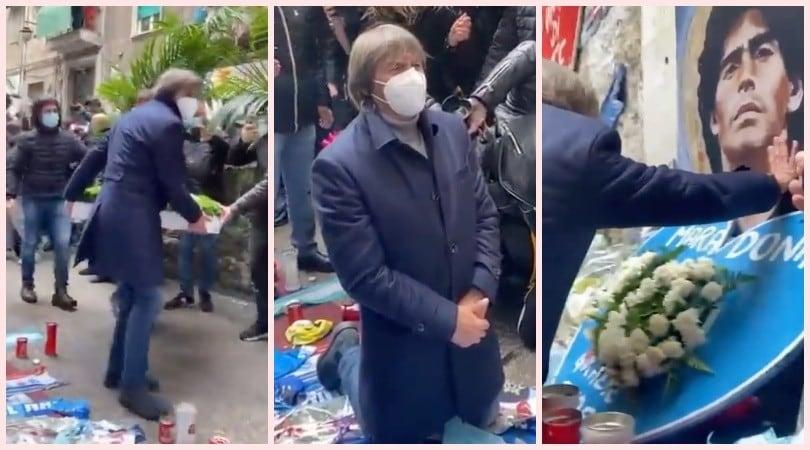 Bruno Conti ai Quartieri Spagnoli: ecco il commovente saluto a Maradona