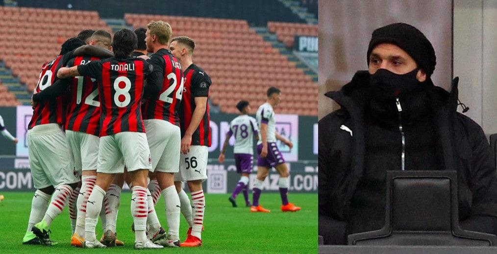 Ibrahimovic sostiene i compagni, il Milan stende la Fiorentina 2-0