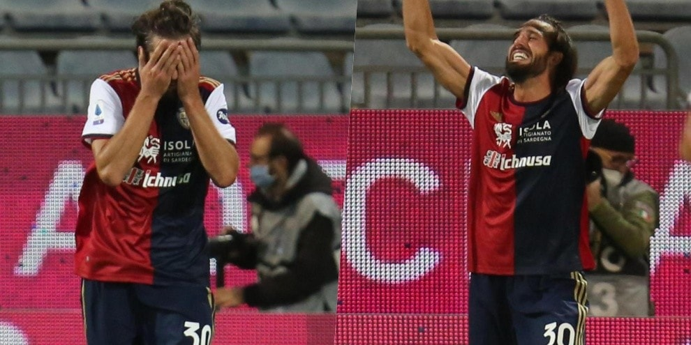 Pavoletti torna al gol con il Cagliari dopo un anno e mezzo!