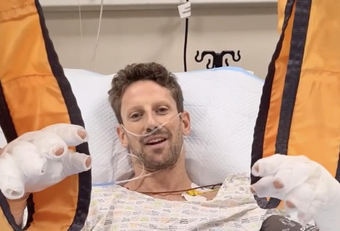 Grosjean dall'ospedale rassicura tutti dopo lo spaventoso incidente
