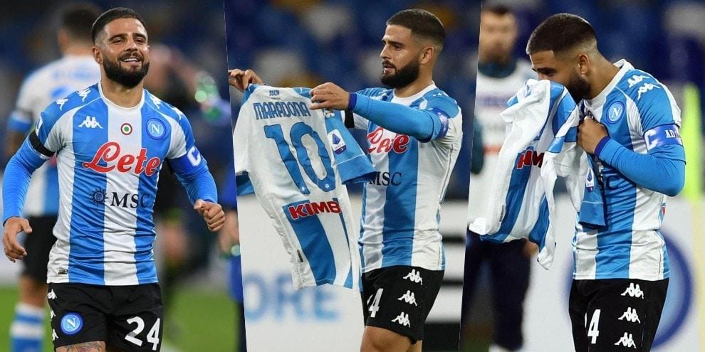 Napoli, Insigne alla Maradona: gol su punizione e dedica speciale