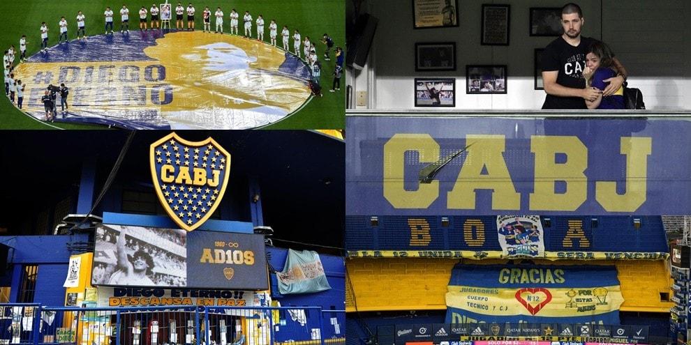 Maradona, l'emozionante omaggio del Boca: Dalma si commuove