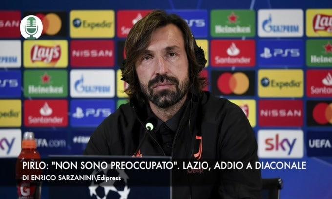 """Pirlo: """"Non sono preoccupato"""". Lazio in lutto: addio a Diaconale"""