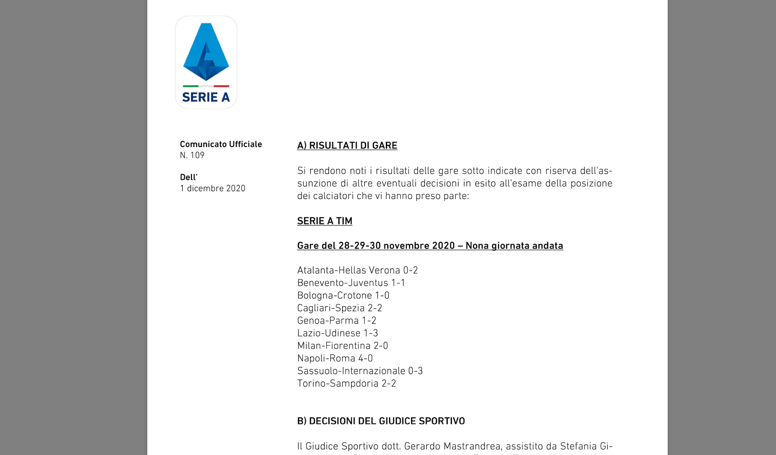 Juve, due turni di squalifica a Morata