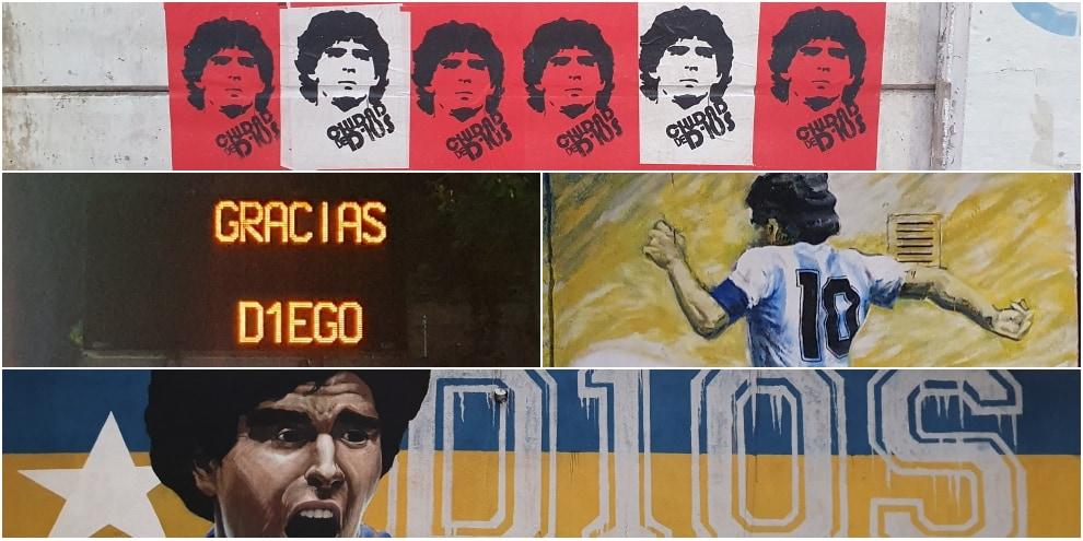 Maradona e Buenos Aires, l'addio dal cuore della città