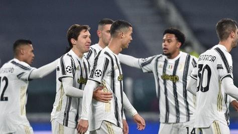 Juve-Dinamo Kiev 3-0: Chiesa, Ronaldo e Morata, Pirlo sorride