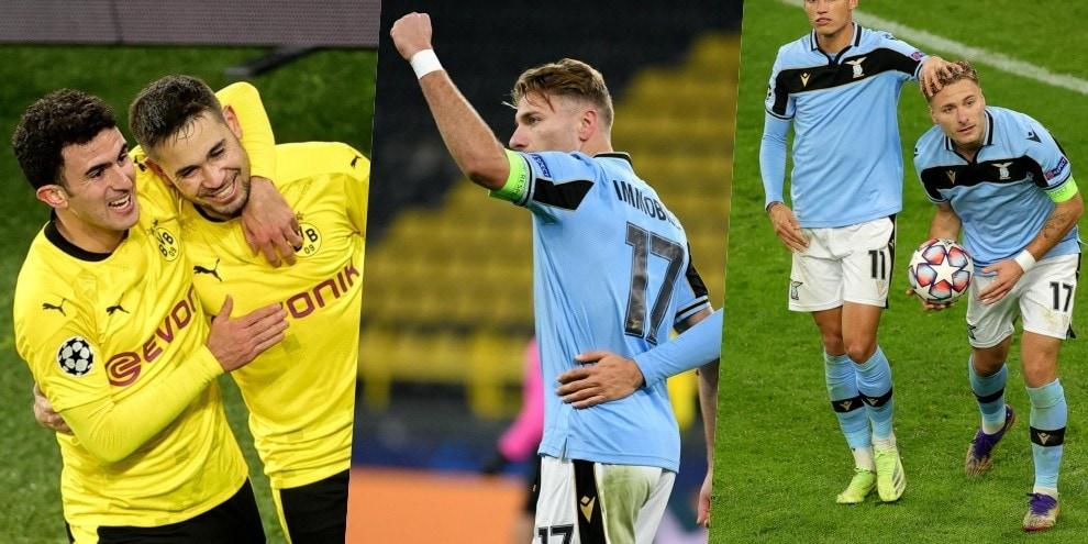 Lazio, pareggio a Dortmund: Guerreiro prima, poi Immobile gol