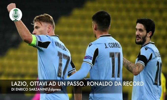 Champions: Lazio, ottavi ad un passo. Ronaldo da record