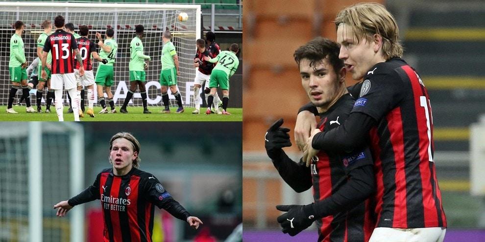 Calhanoglu-Hauge, che gioielli! Rimonta show del Milan in Europa League