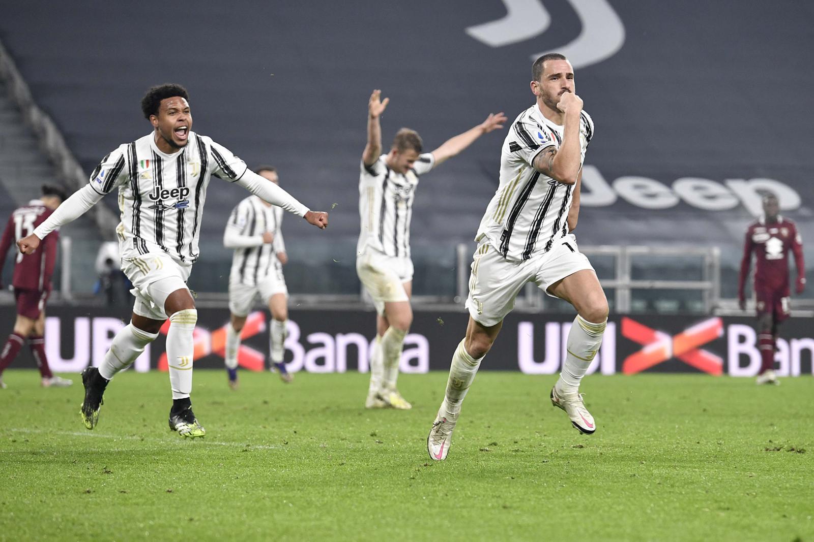 La Juve vince il derby grazie a Bonucci: nuova rimonta subita dal Torino