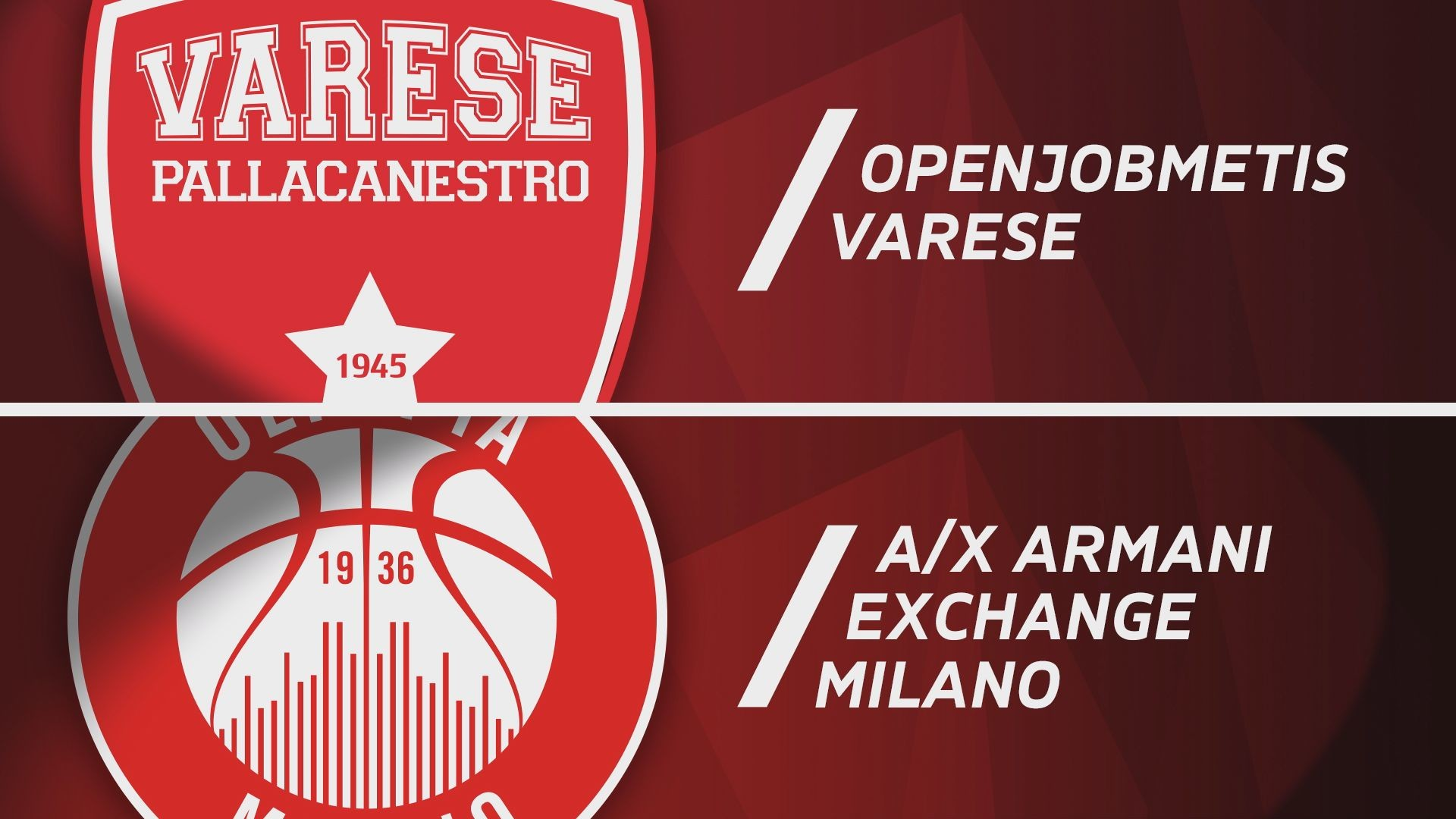 Openjobmetis Varese - A|X Armani Exchange Milano 70-96