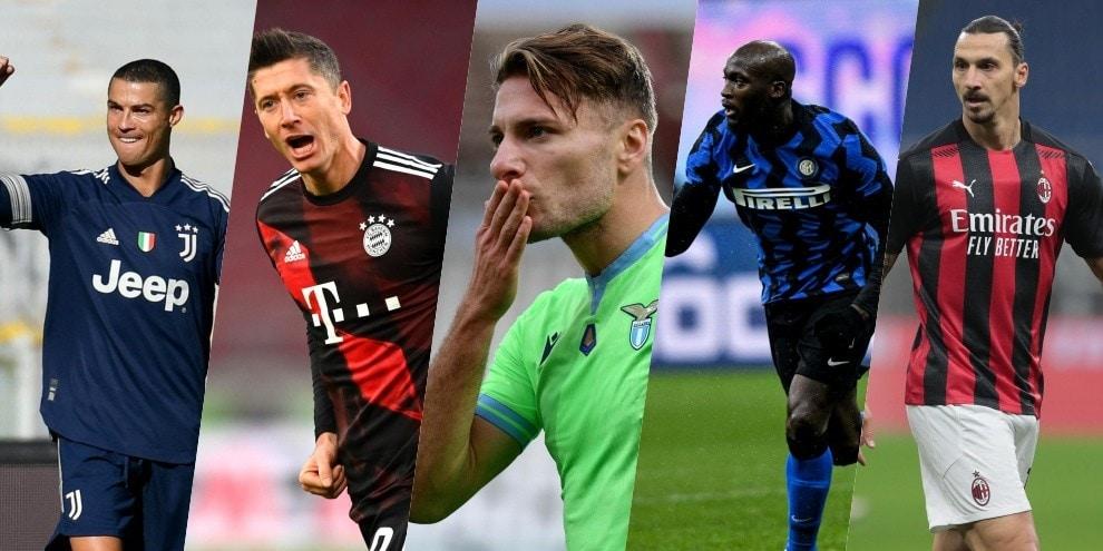 Bomber d'Europa, la classifica: Immobile insegue Ronaldo