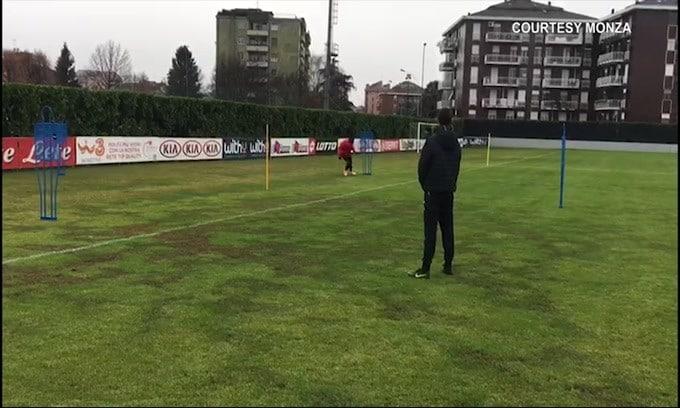 Monza, il primo allenamento di Balotelli