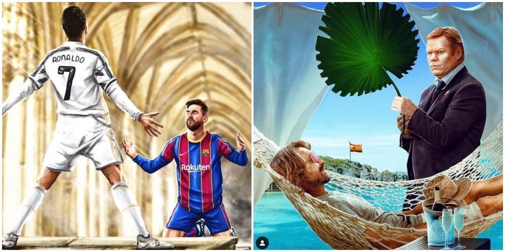 Barcellona-Juve 0-3, Messi si piega a Ronaldo, social scatenati
