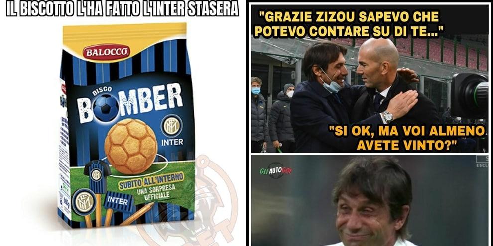 L' Inter di Antonio Conte è fuori dalla Champions League, il web si scatena fra ironie e sfottò