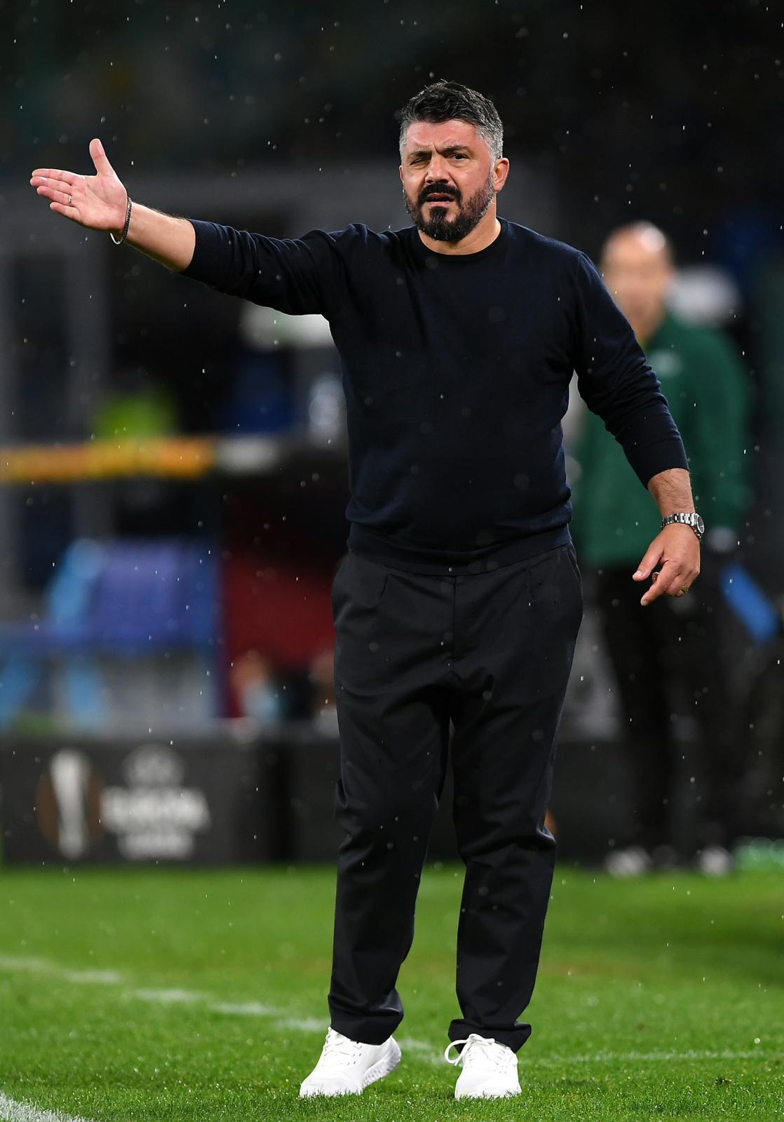 Il match di Gattuso tra occhi gonfi, rabbia e pioggia