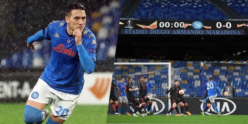 Zielinski qualifica il Napoli nella prima allo stadio Maradona