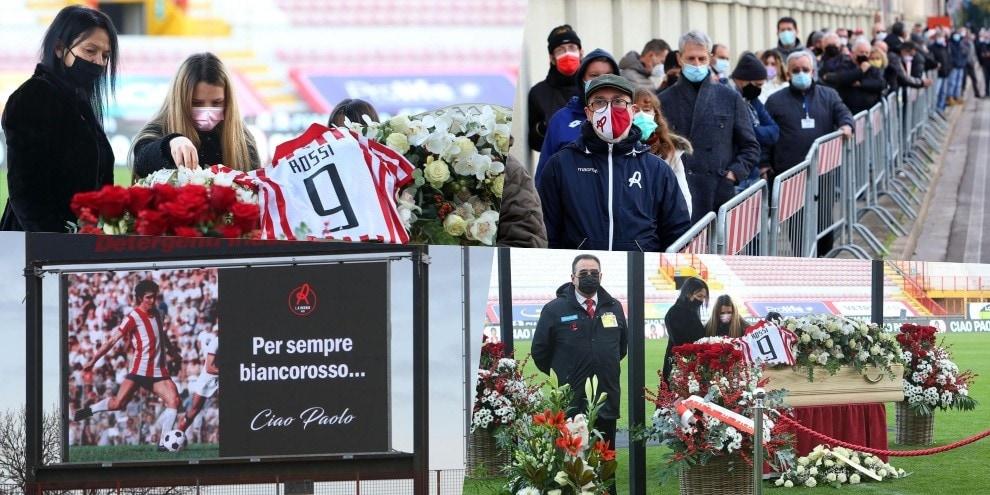 Paolo Rossi, l'ultimo saluto nello stadio del Vicenza