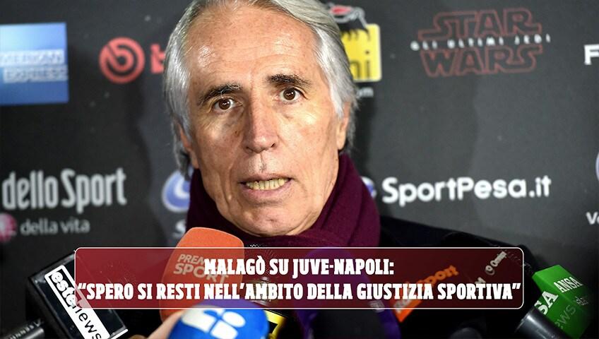 """Malagò su Juve-Napoli: """"Spero si resti nell'ambito della giustizia sportiva"""""""
