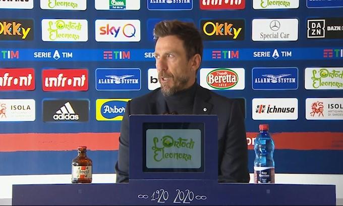 """Di Francesco: """"Peccato per i gol sui calci piazzati"""""""