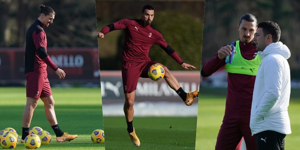 Milan, riecco Ibrahimovic: Zlatan si allena in gruppo