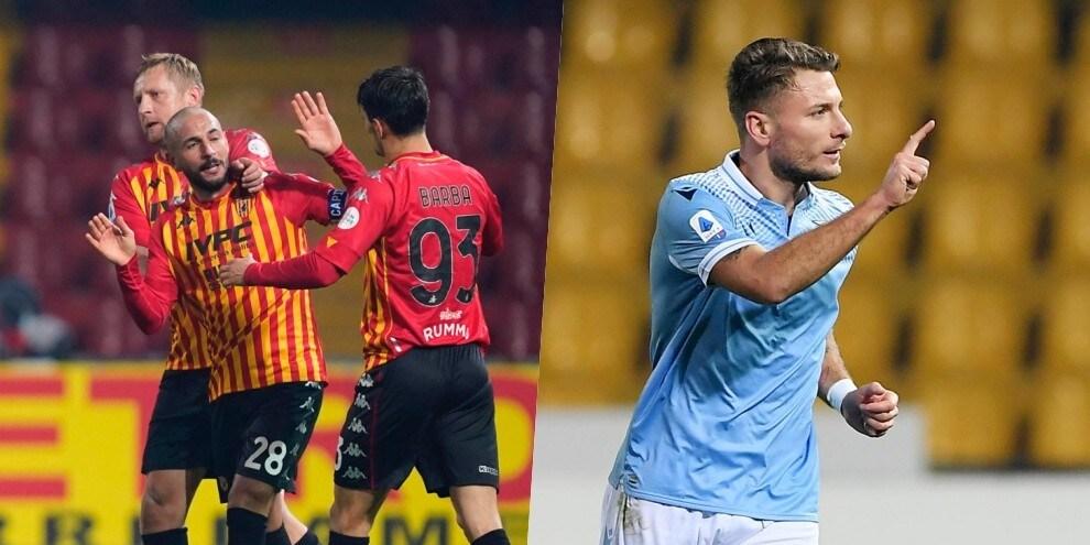 Super Immobile non basta alla Lazio: con il Benevento è 1-1