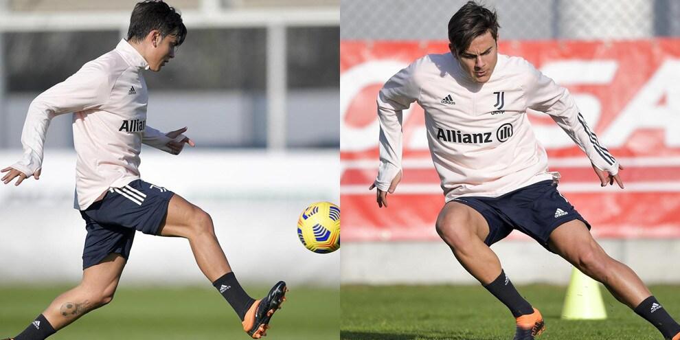 Juve, testa al Parma: Dybala scalpita in allenamento