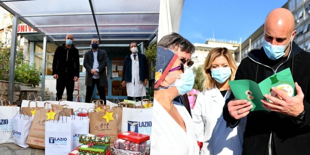 Lazio, regali ai bambini degli ospedali con Reina e Manzini