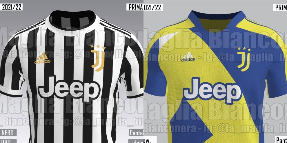 Maglie Juve 2021/2022: prima, seconda e terza divisa, ritorno all ...