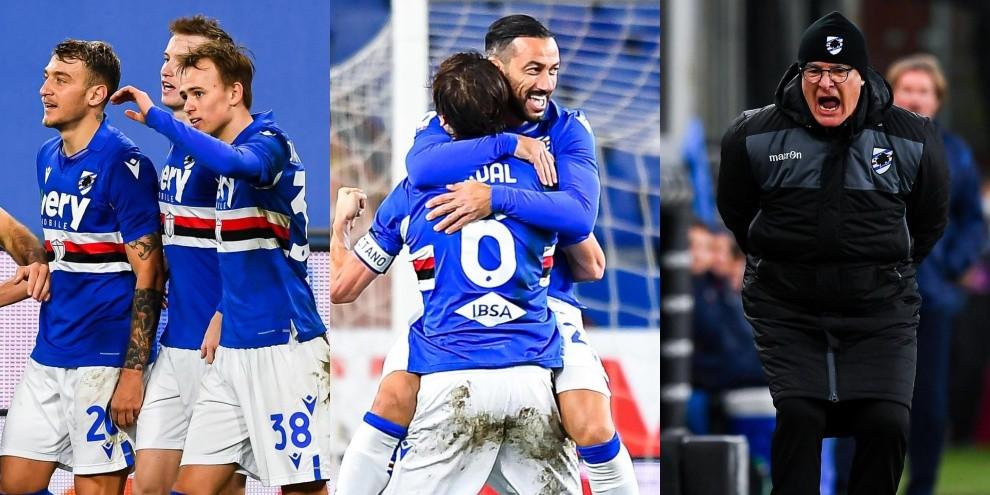 Eterno Quagliarella con la Sampdoria: entra e segna. Ranieri, che grinta!