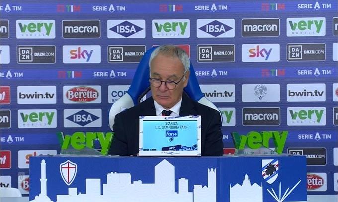 """Ranieri: """"Tutto chiarito con Candreva? Certo...altrimenti non giocava"""""""