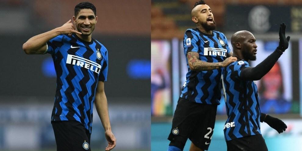 Hakimi chiama, Lukaku risponde: Inter alla sesta vittoria di fila