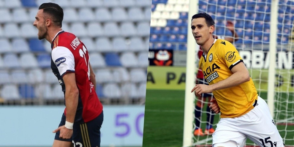 Cagliari-Udinese: magia di Lykogiannis, ma Lasagna entra e segna