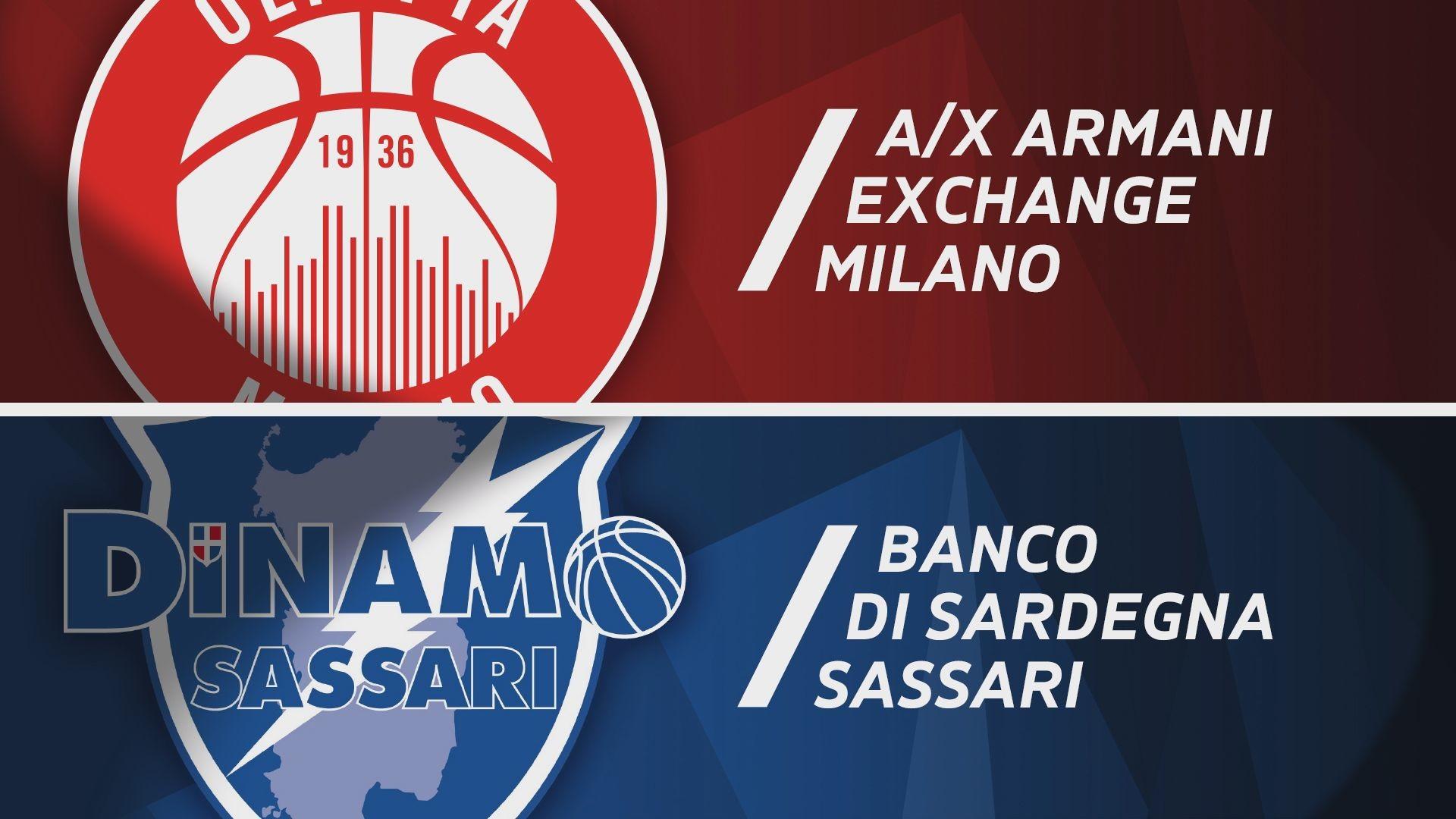A|X Armani Exchange Milano - Banco di Sardegna Sassari 102-86