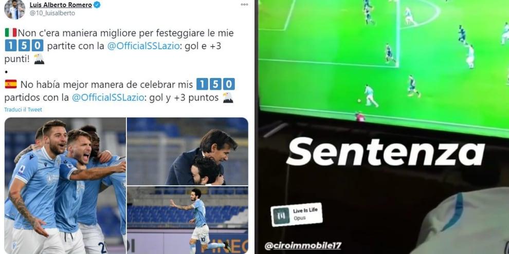 """Lazio, la squadra festeggia sui social: """"Questi siamo noi!"""""""