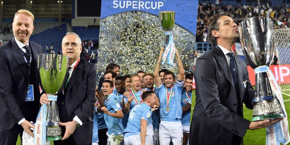 Lazio, che festa! Un anno fa il trionfo in Supercoppa
