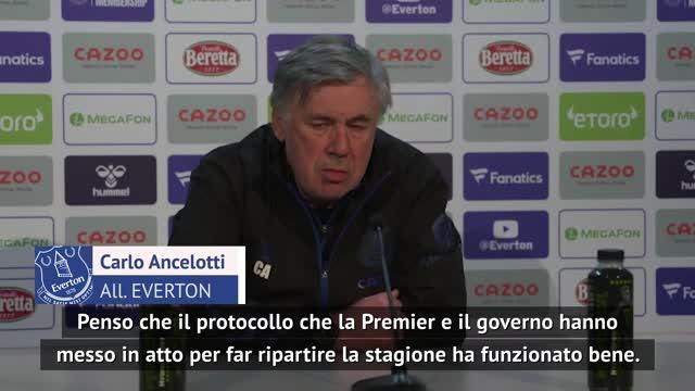 """Ancelotti: """"Variante del virus? Piena fiducia nelle autorità"""""""