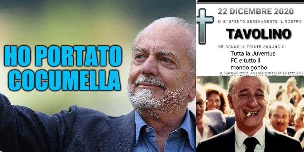 Juve-Napoli si gioca: l'ironia social dei tifosi