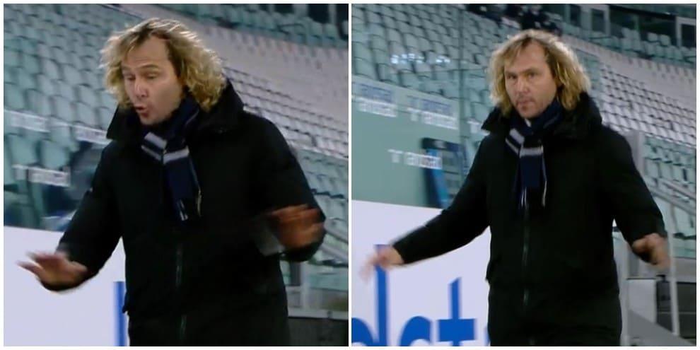 Nedved si infuria con l'arbitro La Penna e lascia il campo durante Juve-Fiorentina