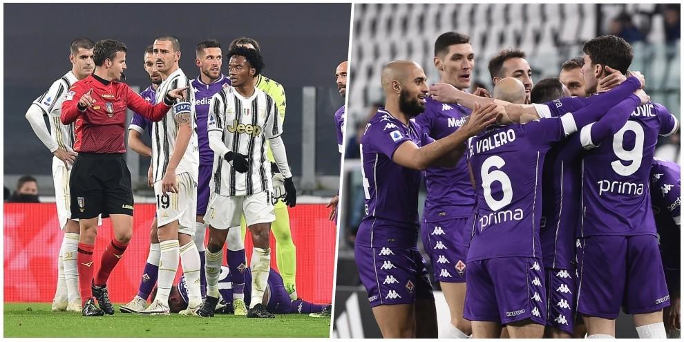 Juve, che crollo! Ribery ispira e la Fiorentina dilaga a Torino