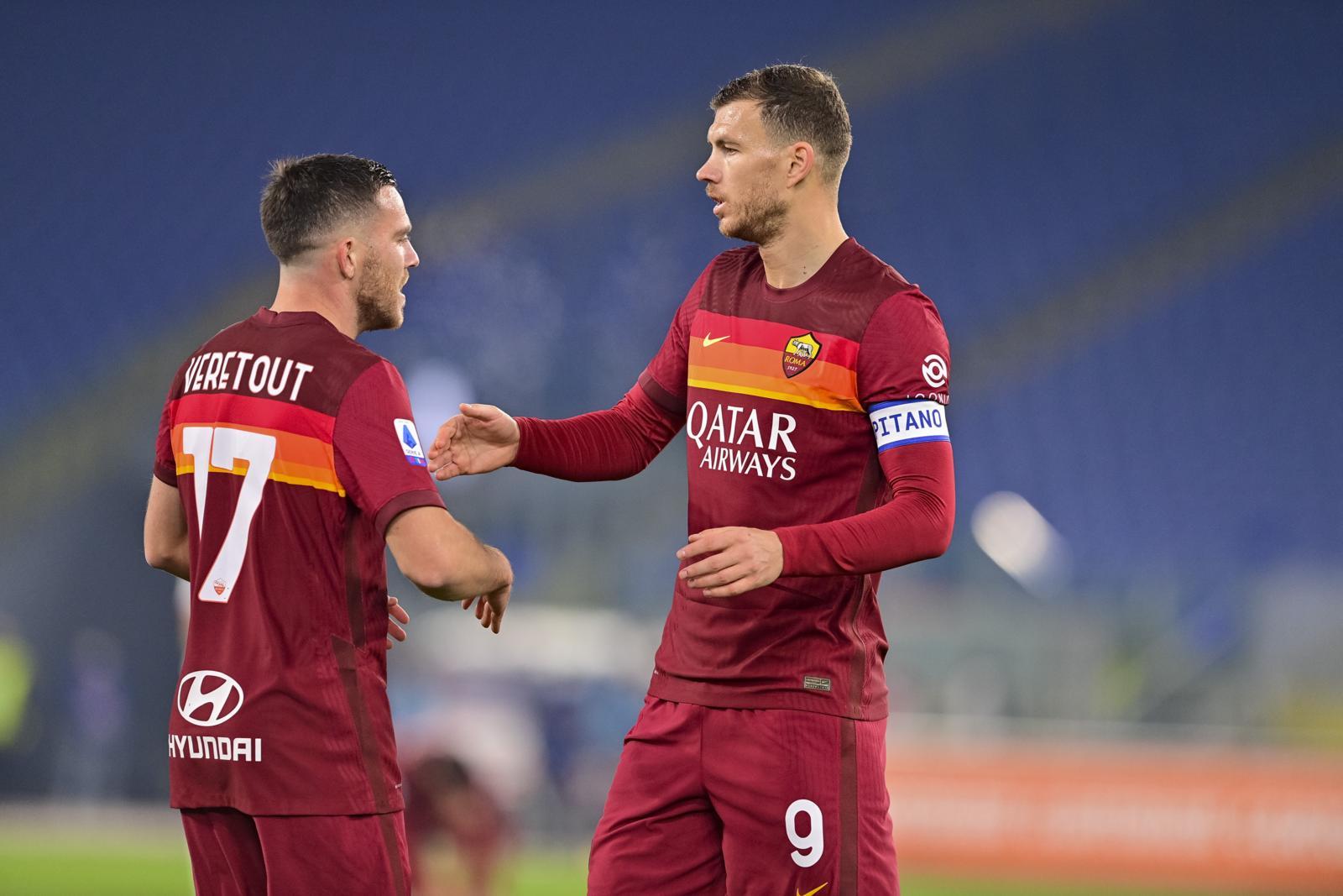 Veretout, Dzeko e Mancini: la Roma risorge contro il Cagliari