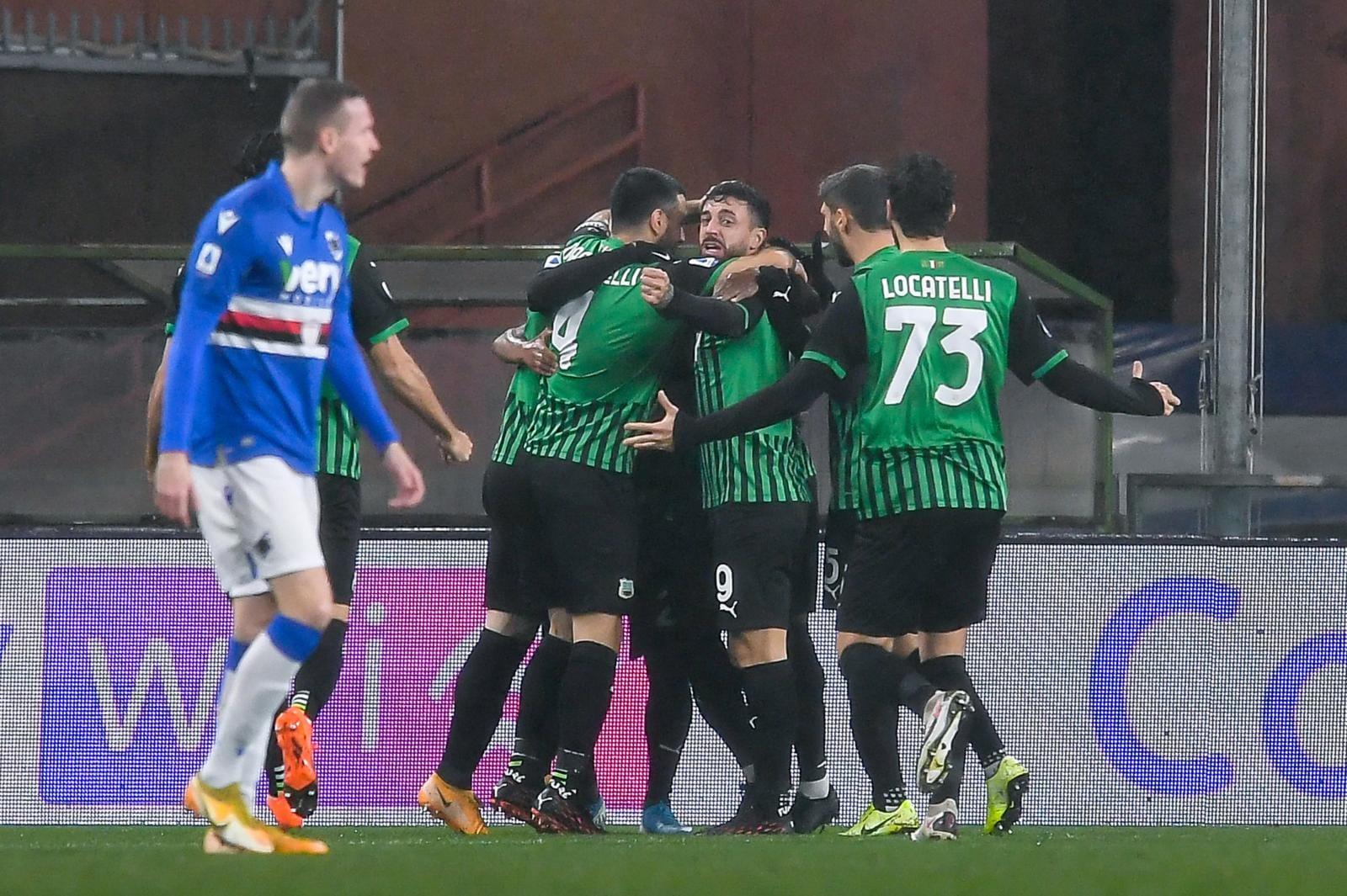 Sassuolo, un 3-2 che sa di Champions: Sampdoria ko