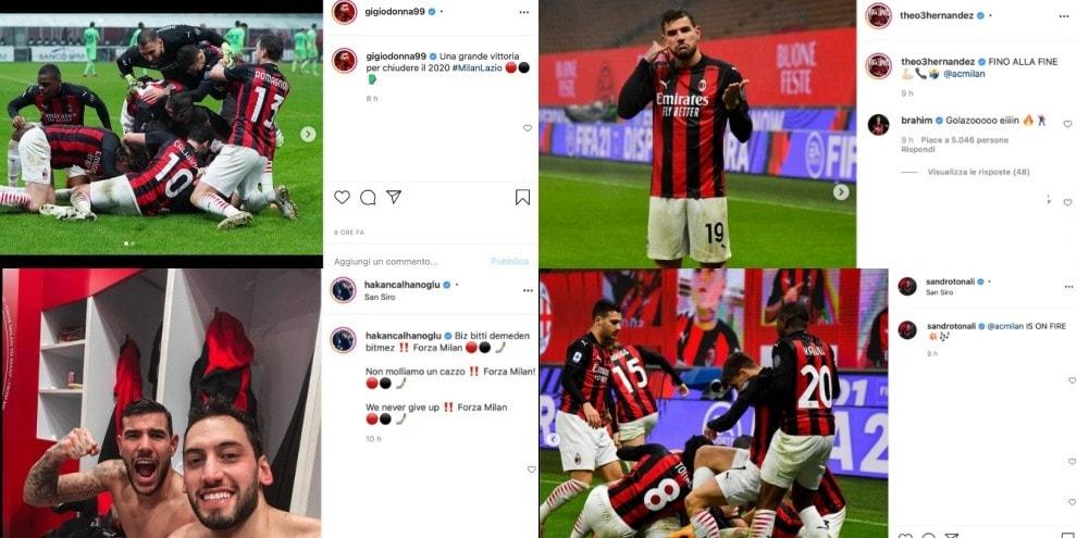 Theo Hernandez fa volare il Milan: che festa sui social dopo il 3-2 alla Lazio!